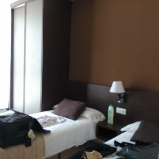 Mi habitación doble de uso individual.