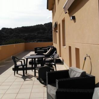 La magnífica terraza muy confortable y totalmente acondicionada.