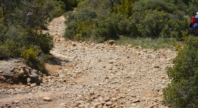 2016 Bajada del Perdón- también llamada Rompe piernas. Ya no hay rastro de los escalones