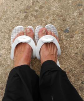 Chancletas, para descansar pies al aaire libre